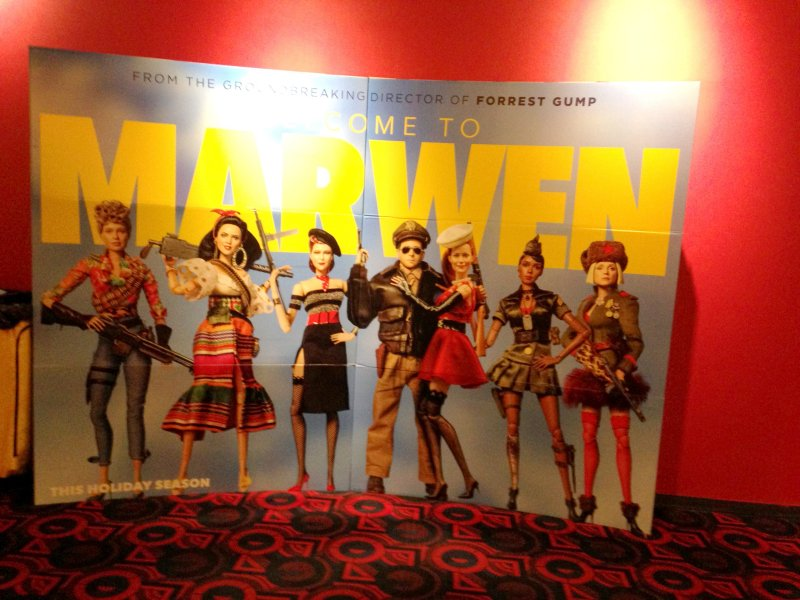 welcome to marwen movie poster giving thanks to god giving thanks